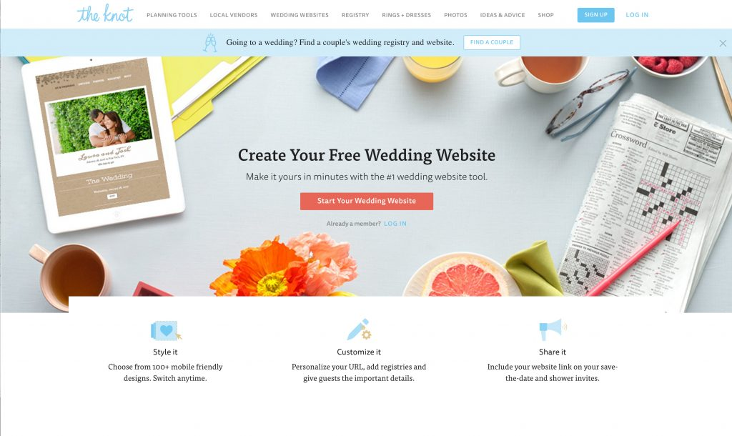 Find A Couple S Wedding Website.Our Top 5 Free Wedding Websites Weddings At Executive Hotels